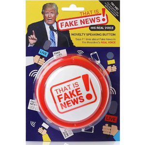 Donald Trump Fake News Button