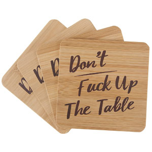 Dont Fck Up The Table Drink Coasters