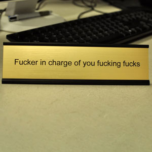 Funny Desk Plate