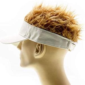 Sun Visor Cap with Spiked Hairs
