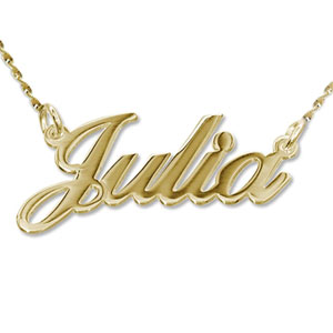 14K Gold Personalized Name Necklace