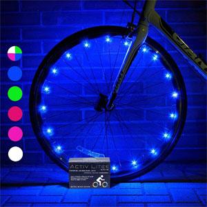Activ Life Bike Wheel Lights (2 Tires, Blue)