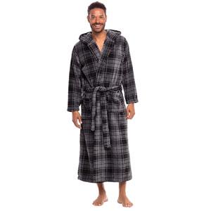Alexander Del Rossa Mens Warm Flannel Fleece Robe