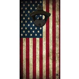 American Flag Wall Mounted Bottle Opener