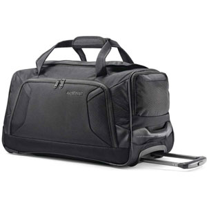 American Tourister Zoom Softside Duffel Luggage with Spinner Wheels