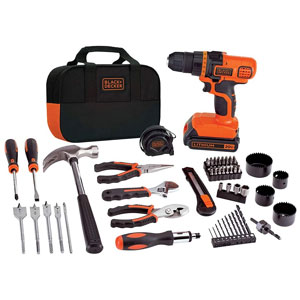 BLACK+DECKER 20V MAX Drill and Home Tool Kit, 68 Pc.
