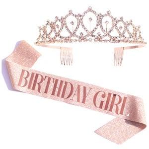 Birthday Girl Sash & Rhinestone Tiara