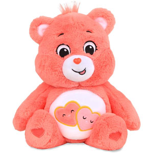 "14"" Care Bears: Love-A-Lot Bear/Wish Bear Plush"