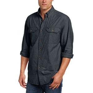 Carhartt Mens Fort Lightweight Chambray Button Front Relaxed Fit Shirt