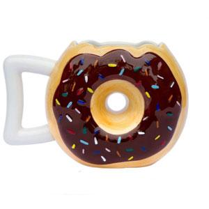 Chocolate Glaze Doughnut Ceramic Mug