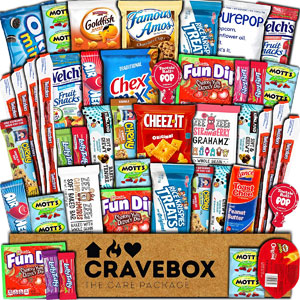CraveBox Care Package Ultimate Variety Gift Box, 45 Ct.