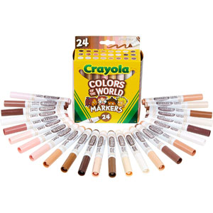 Crayola Colors of the World Markers, 24-Ct