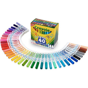 Crayola Ultra-Clean Washable Markers, 40-Ct