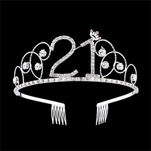 Crystal 21st Birthday Tiara Crown