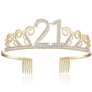 Crystal 21st Birthday Tiara Rhinestone Princess Crown