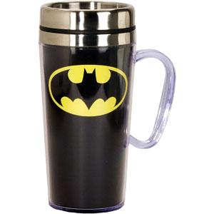 DC Comics Batman Logo Insulated Travel Mug, 15 oz.