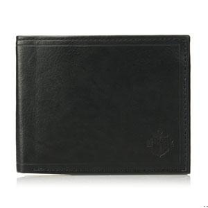 Dockers Mens Leather Traveler Wallet