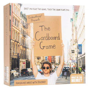 DudeWithSign Presents the Cardboard Game by What Do You Meme?