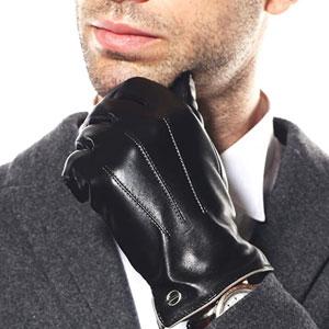 ELMA Mens Winter Leather Gloves
