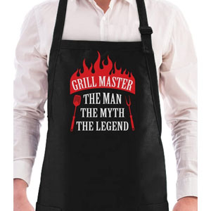 Grill Master The Man The Myth The Legend BBQ Chef Apron