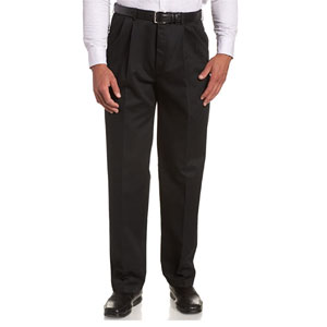 Haggar Mens Work-To-Weekend Khaki No-Iron Pleat-Front Pant