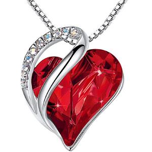 Infinity Love Heart Birthstone Pendant Necklace
