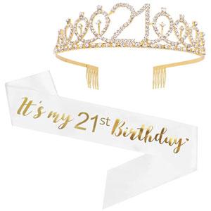 Its My 21st Birthday Sash & Rhinestone Tiara
