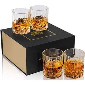 KANARS Old-Fashioned Whiskey Glasses with Luxury Box, Set of 4