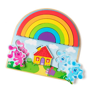 Melissa & Doug Blues Clues and You! Rainbow Stacking Puzzle