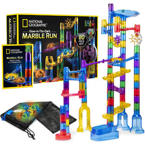 National Geographic Glow-In-The-Dark Marble Run
