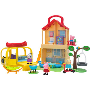 Peppa Pig Pop n' Playhouse and Play n' Go Campervan Combo Pack