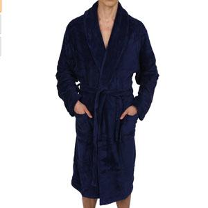 Regency New York Luxurious Mens Hooded Robe & Shawl Fleece Bathrobe