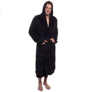 Ross Michaels Mens Hooded Robe