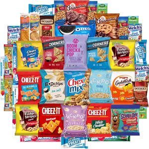 Snack Chest Care Package Variety Snacks Gift Box, 40 Ct.