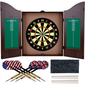 Trademark Gameroom Dartboard Cabinet Set