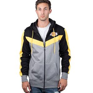 Ultra Game NBA Men's Full Zip Soft Fleece Sweatshirt Hoodie Jacket
