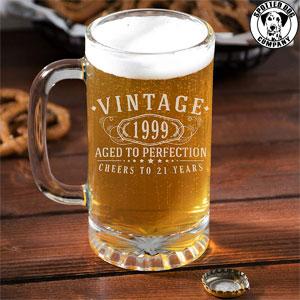Vintage 21st Birthday Beer Mug