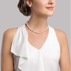 White Freshwater Cultured Pearl Necklace