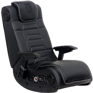 X Rocker Pro Series H3 Leather Vibrating Floor Video Gaming Chair