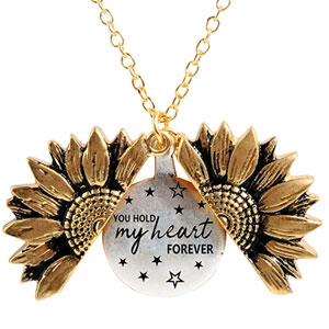 You Hold My Heart Forever Engraved Locket Necklace
