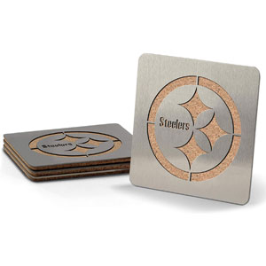YouTheFan NFL Boasters: 4-Piece Stainless Steel Team Coaster Set