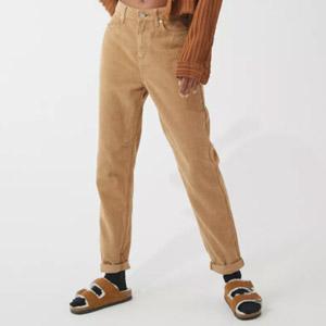 BDG Color Corduroy High-Waisted Mom Pant