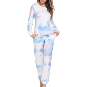 Ekouaer Tie Dye Pajama Set