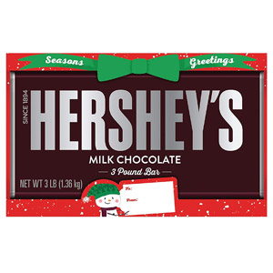 Hersheys 3-Pound Holiday Milk Chocolate Bar