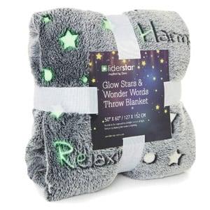 LIDERSTAR Glow Stars and Wonder Words Blanket