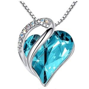 Leafael Infinity Birthstone Love Heart Pendant