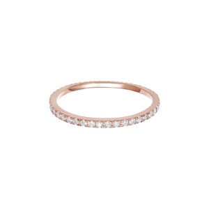 PAVOI Cubic Zirconia Stackable Eternity Ring