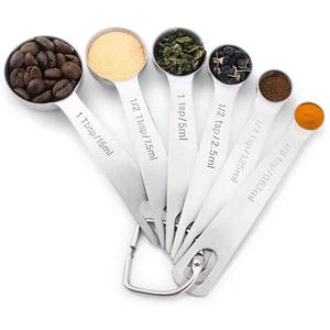 1Easylife 18/8 Stainless Steel Measuring Spoons