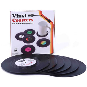Ankzon Vinyl Coasters