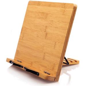 Bamboo Book Stand Cookbook Holder Desk